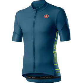 Castelli Entrata V Jersey Korte Mouwen Heren, light steel blue